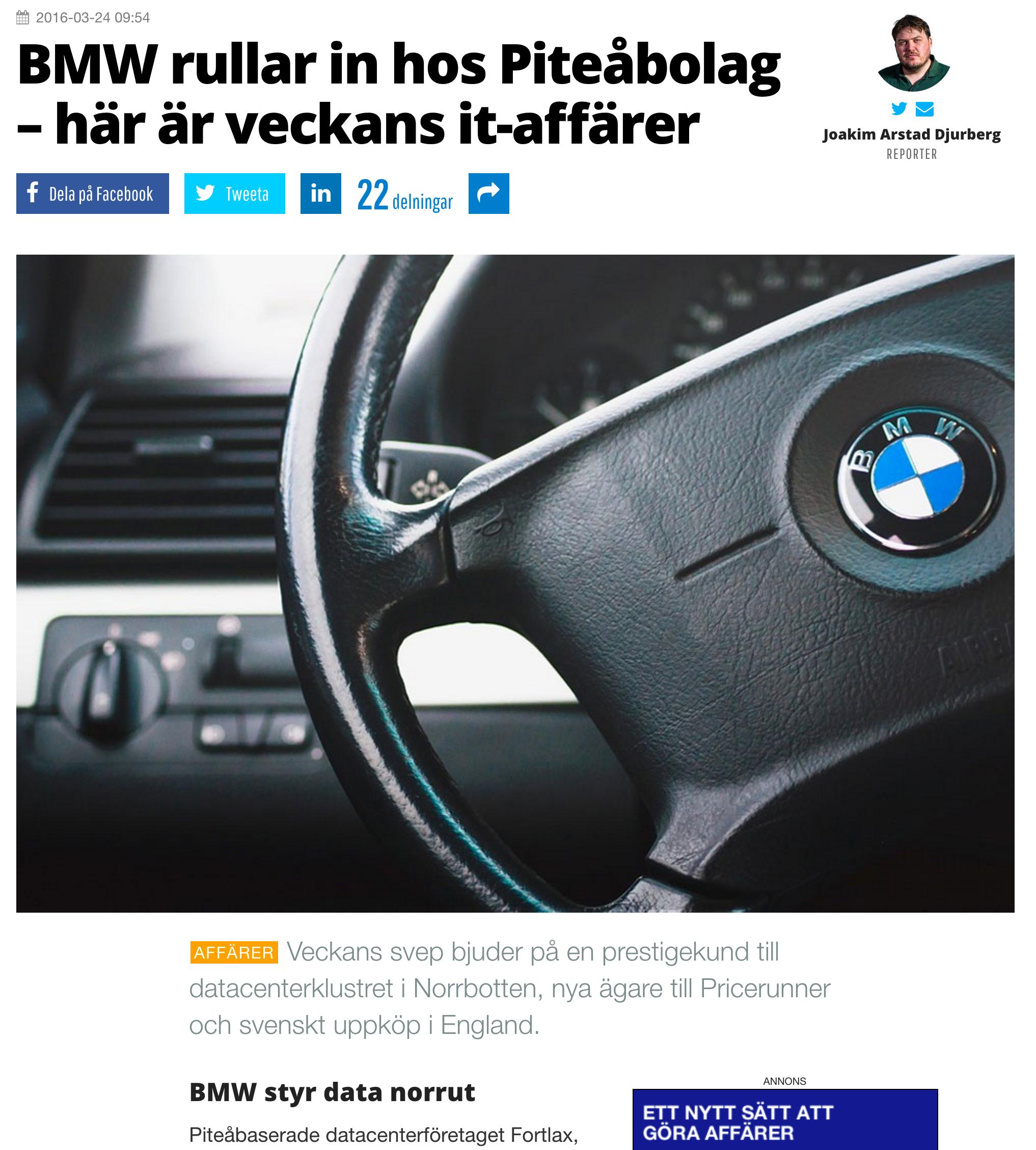 BMW rullar in