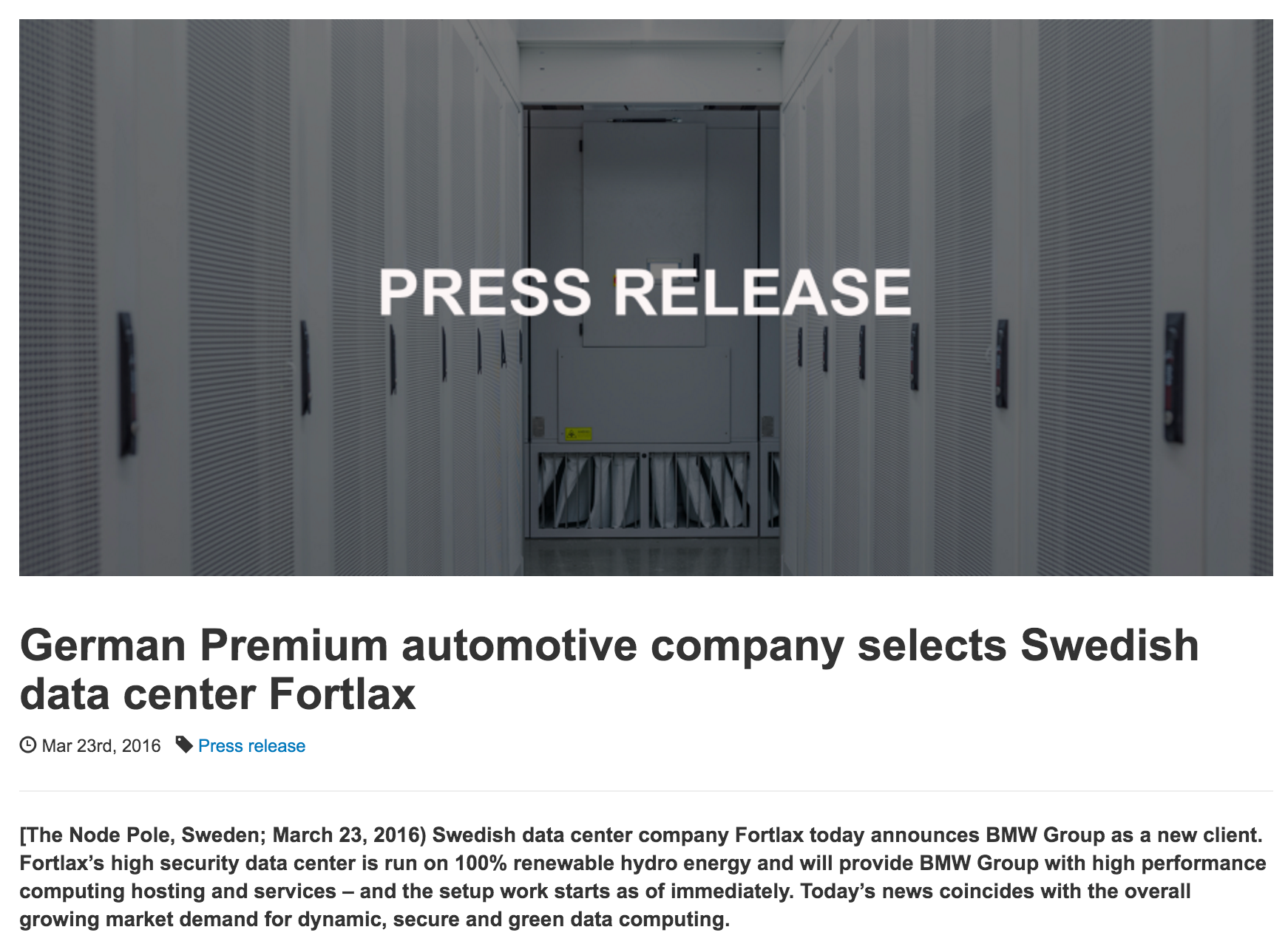 German_Premium_automotive_company_selects_Swedish_data_center_Fortlax_–_The_Node_Pole